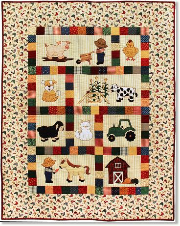 Farm Animal Baby Quilt Layout - Modern Sunbonnet Sue's Musings